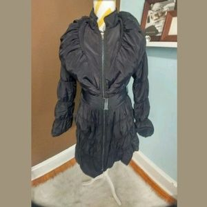 Stylish Black Dressy Winter Jacket Size Xs/S